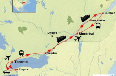 CROISIERE ET TRAINS LE LONG DU SAINT-LAURENT
