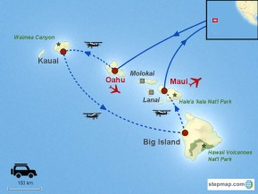 Usa / Hawaï / Fly & Drive / Hawaii en 4 îles